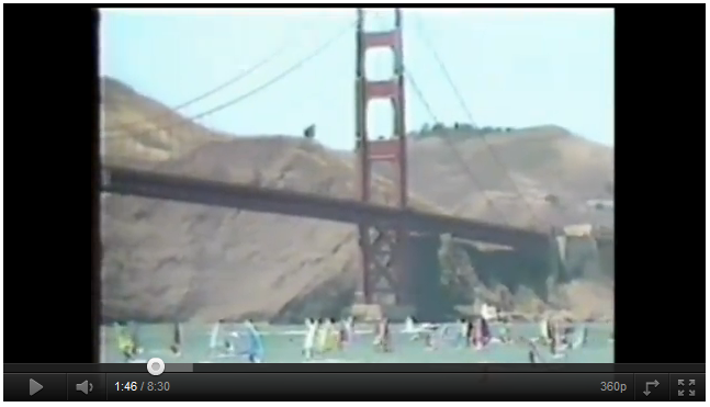Robby Naish al Golden Gate Crossing Event del 1985