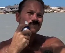 Shave while windsurfing…