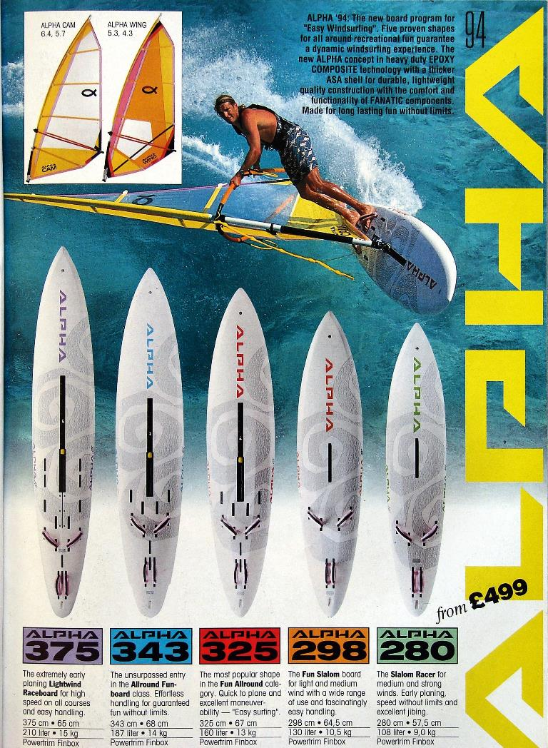 Windsurfing Brochures 80's and 90's | God Save the Wind