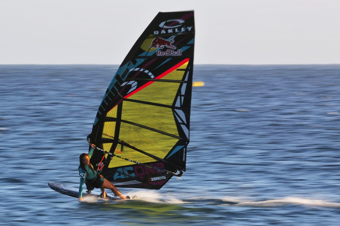 Point-7 AC-One Zero racing sail developed by the Point7girls Team
